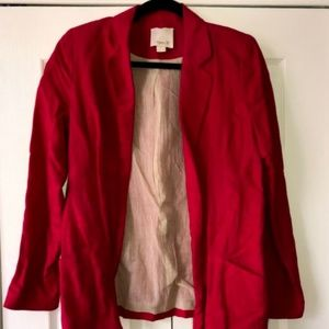 Pink Linen Blazer Size Small